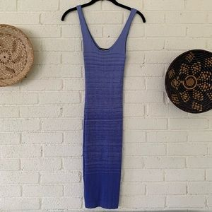Bebe 90s Ribbed Tank Dress